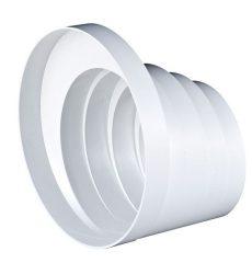 PVC lépcsős szűkítő idom szellőző rendszerekhez NA150/125/120/110/100