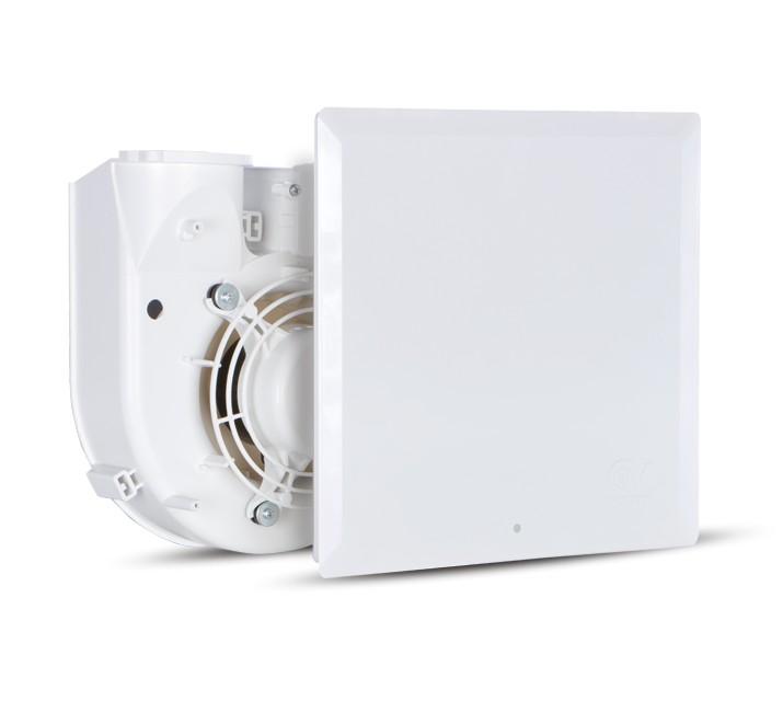Vortice Evo QE 100 LL T radiális ventilátor egység előlappal, időkapcsolóval, előkésleltetéssel, IP45